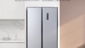 我的第一台冰箱:大容量、风冷无霜不结冰,值得拥有的经济适用型大冰箱-米家 对开门风冷冰箱483L