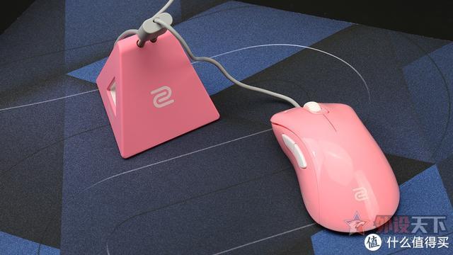 ZOWIE DIVINA CAMADE II鼠线夹评测:蓝粉配色吸粉妹子玩家
