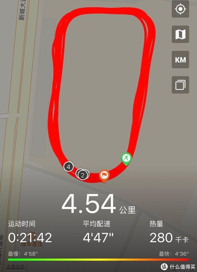 实际应该跑了有5公里