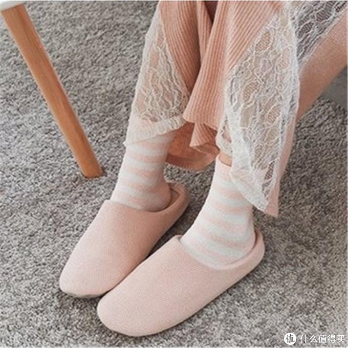 网易严选 简风斜纹家居拖鞋 含羊毛混纺