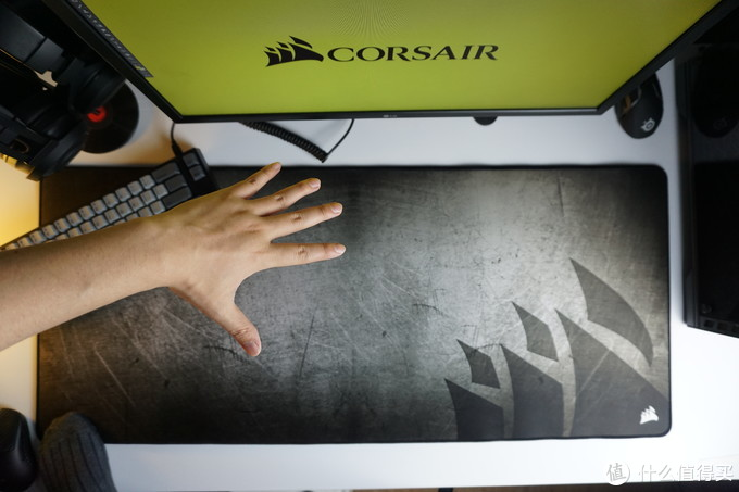 钢铁直男的游戏桌垫,海盗船mm350鼠标垫