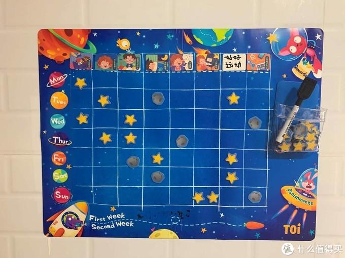 一张卡通表让孩子培养好习惯--TOI儿童行为自律表