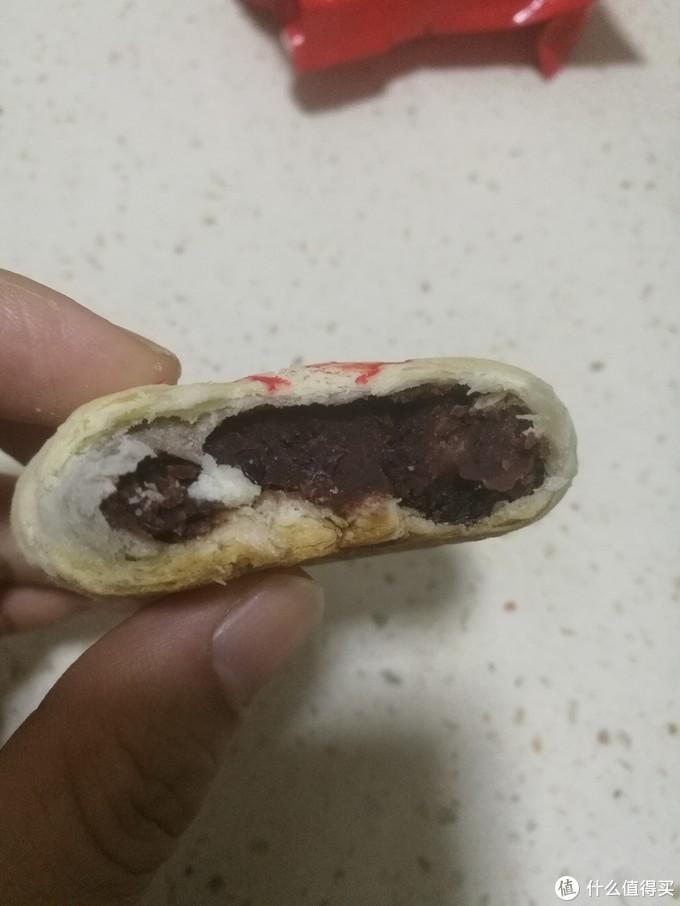 香酥甜的白皮红豆酥饼