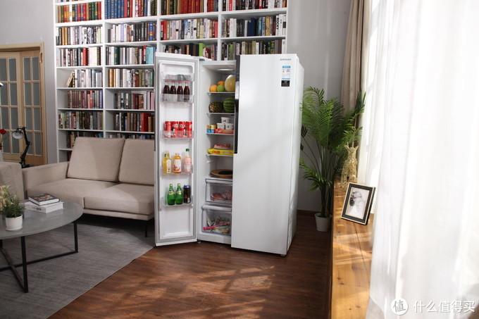 三星对开门冰箱,高保湿无霜保鲜更持久