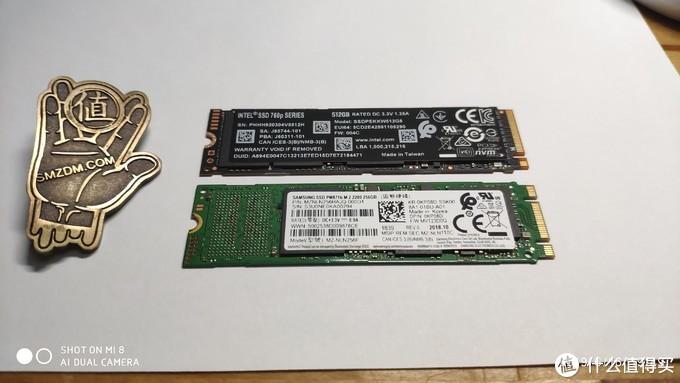 人生第一块NVMe固态硬盘-Intel760P512G