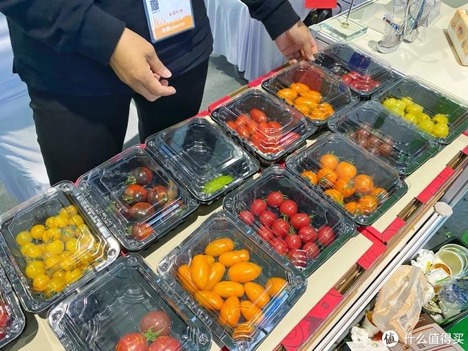 出口澳洲的番茄,展商只给吃了红黄番茄,其实,我对那个花色番茄更加感兴趣,但是,不给试吃。