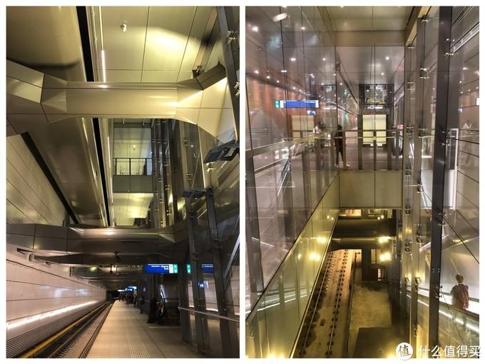 路过一个立体感很强的地铁站,左图我拍完都不敢相信,感觉更适合旋转90°看