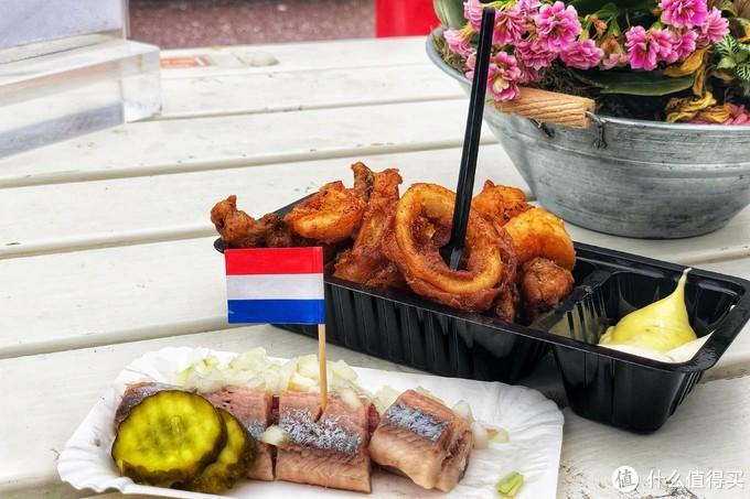 店家给我推荐的小食组合,还插上的荷兰国旗很可爱