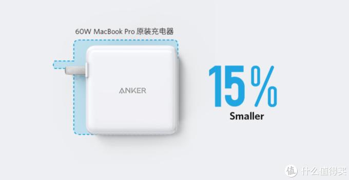 双路快充,体积更小:Anker 60W 氮化镓双口充电器
