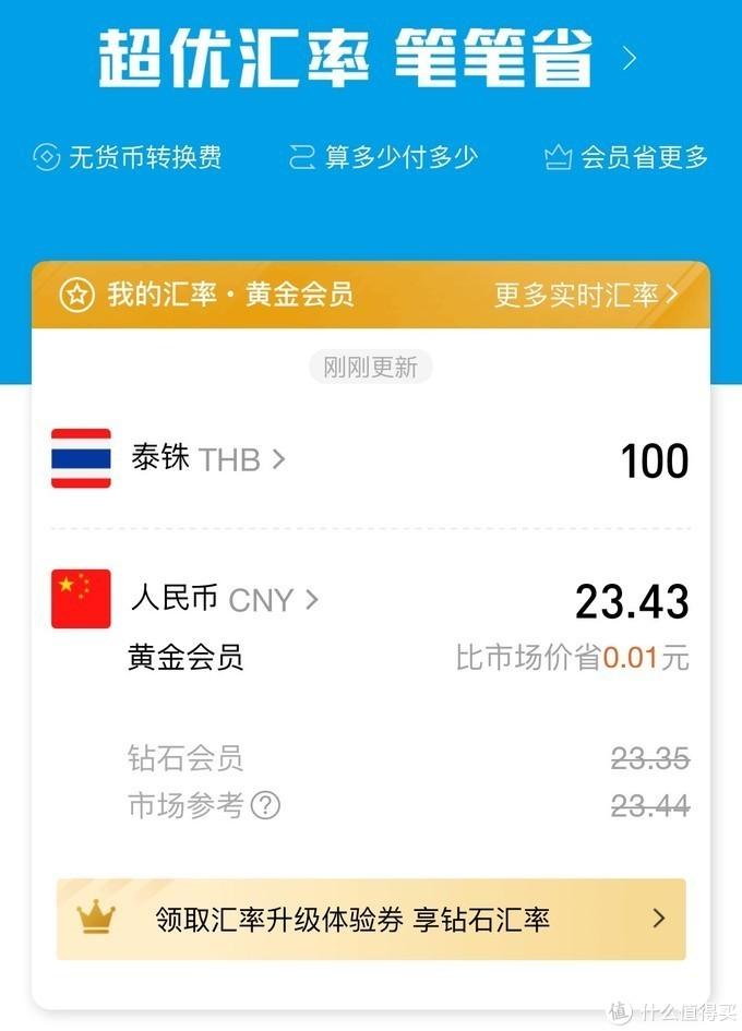 泰铢兑人民币(参考支付宝实时汇率)