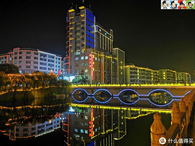 吃饱回桂东县城住宿,顺便看看夜景,
