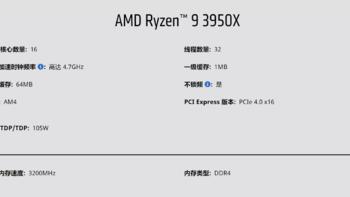 锐龙Ryzen 3950X处理器评测体验(规格 性能测试)