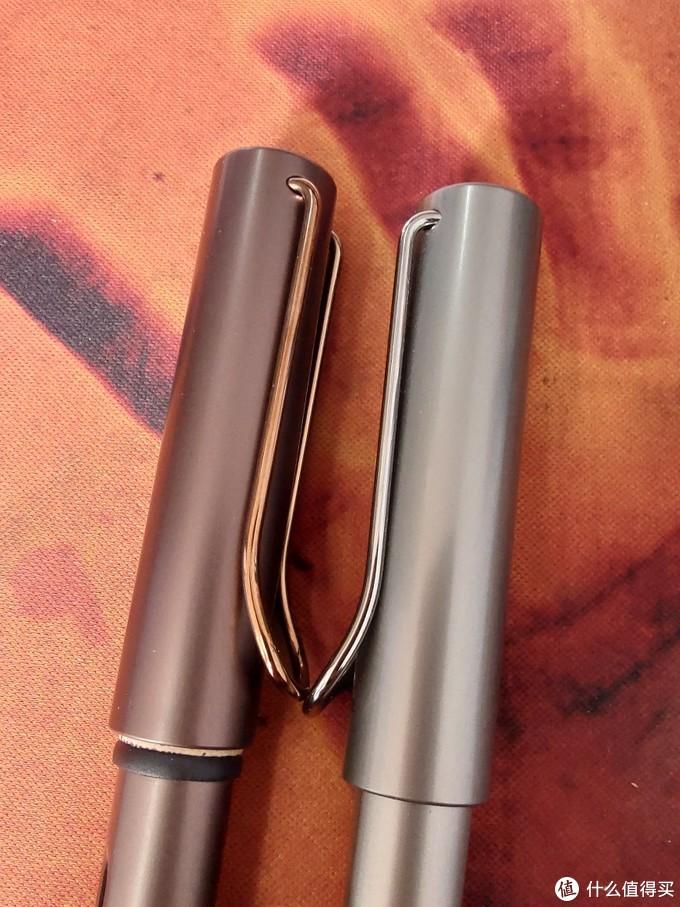 笔夹颜色不同