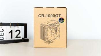 乔思伯CR-1000GT升级版 塔式散热器评测装机体验(说明书|散热鳍片|厚度|装机|灯效)