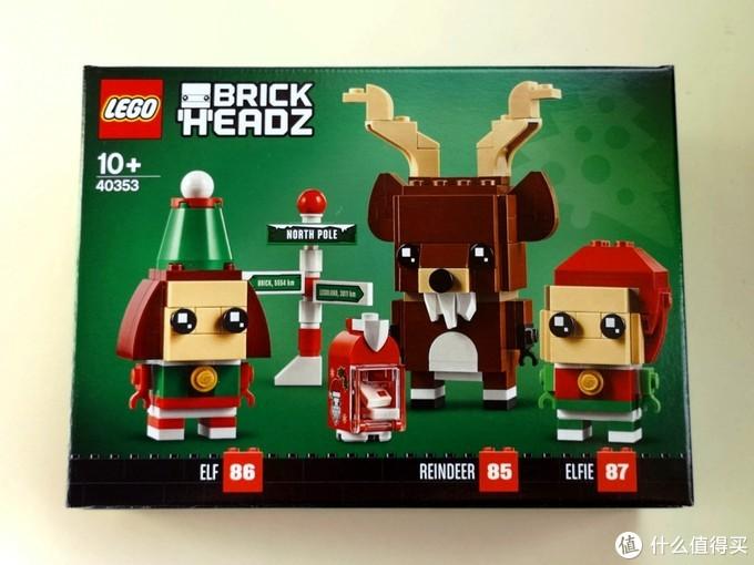 40353盒子正反两面展示成品效果图,可以看到,除了圣诞节驯鹿和两个小精灵外,还有邮箱和路标两件装饰物