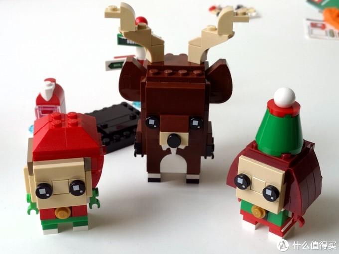 史上第一套三人装方头仔出现——Brickheadz 40353 Reindeer, Elf and Elfie
