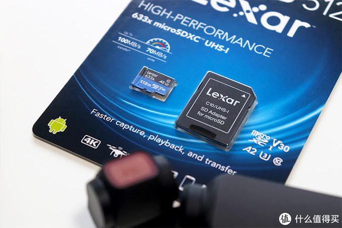 大疆Osmo Pocket之存储保障,容速皆猛:Lexar雷克沙633x 512GB TF卡