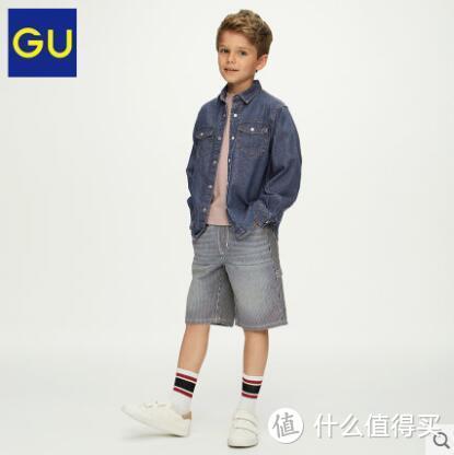 30块为明年夏天囤货!GU男童水洗牛仔中裤