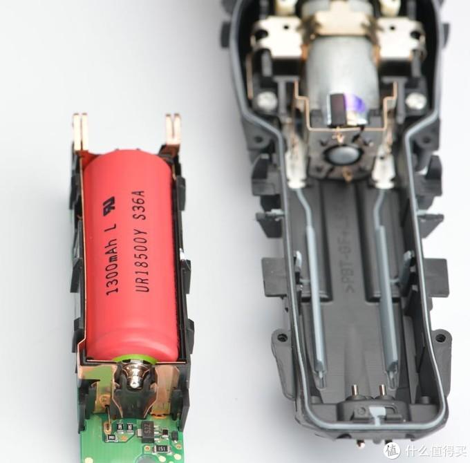 一颗18500电芯加超声波电焊的尖头