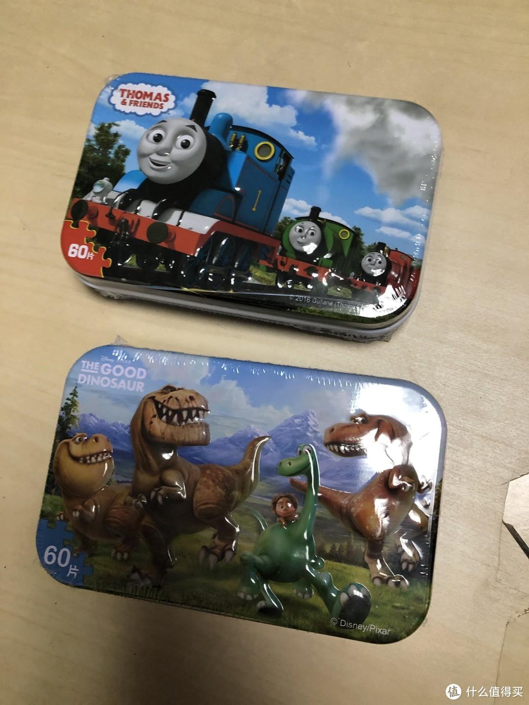 形象可爱、高度还原的托马斯儿童拼图(3D立体铁盒独立装、60片)