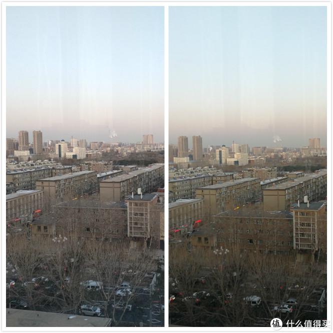 风景照对比图(左边oppo右边mate9)