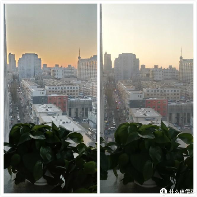 HDR拍摄效果对比图(左边oppo右边mate9)