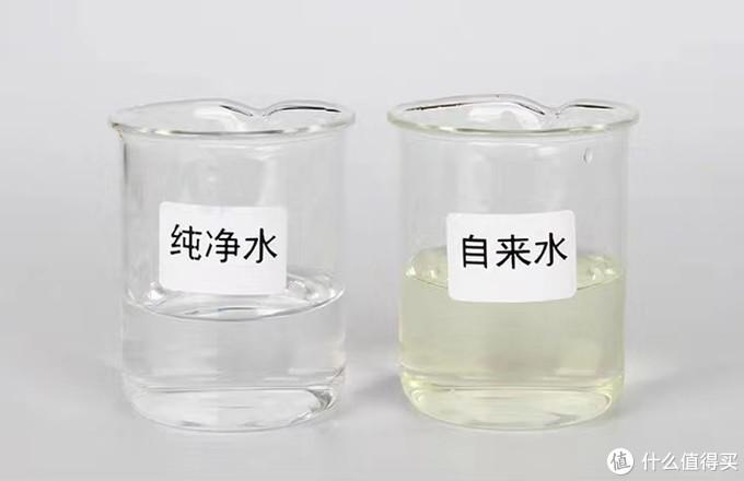 纯净水和自来水余氯含量对照