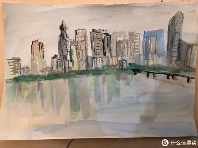 简单水彩画入门教学(1):30分钟画一幅水彩城市风景画的诀窍