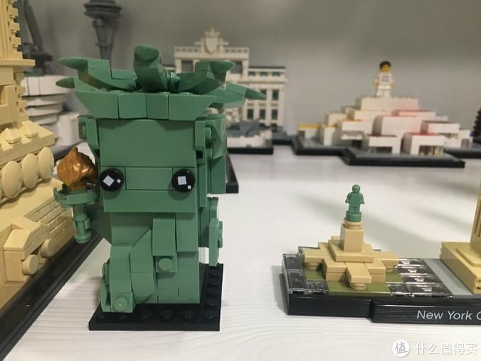 LEGO 乐高 建筑系列 21042 自由女神像和40367自由女神像方头仔