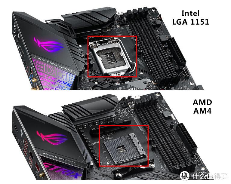Intel和AMD主板插座对应也是不同的