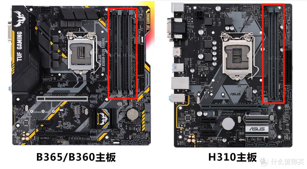 主流主板是4插槽,H310这样的入门为2插槽,正常用倒是不影响