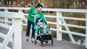 QBORN秒秒收婴儿推车开箱体验(安装 刹车 遮阳篷 承重)