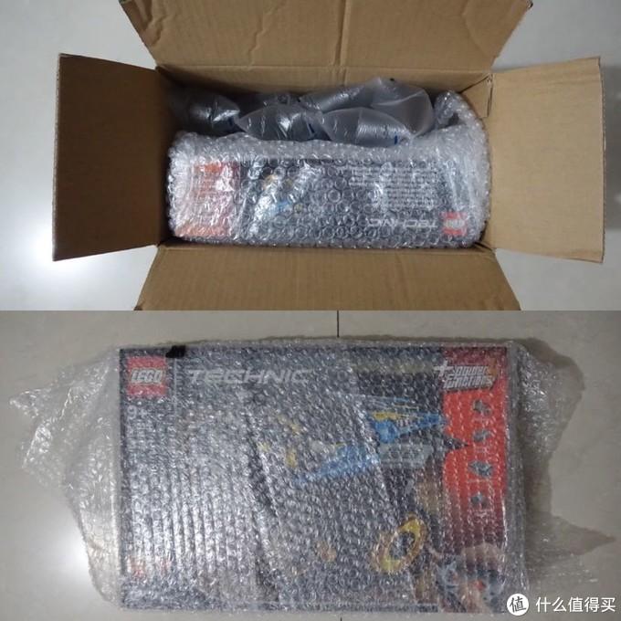 小盒的乐高就采用小泡泡纸包装,同样采用大气泡袋子填充,同样完美盒到手。