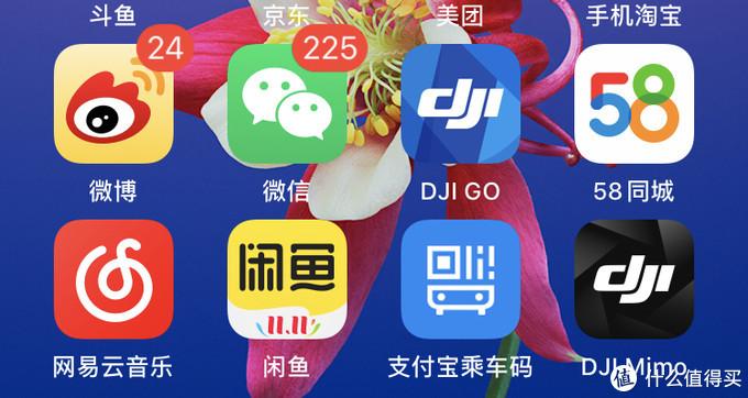 二代云台需要用到图中的 DJI GO app(ios)来连接手机;三代云台需要用到黑色的那个DJI Mimo来连接。界面分别如下面两张图