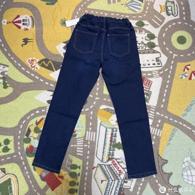 54.3元到手的GU儿童松紧牛仔裤