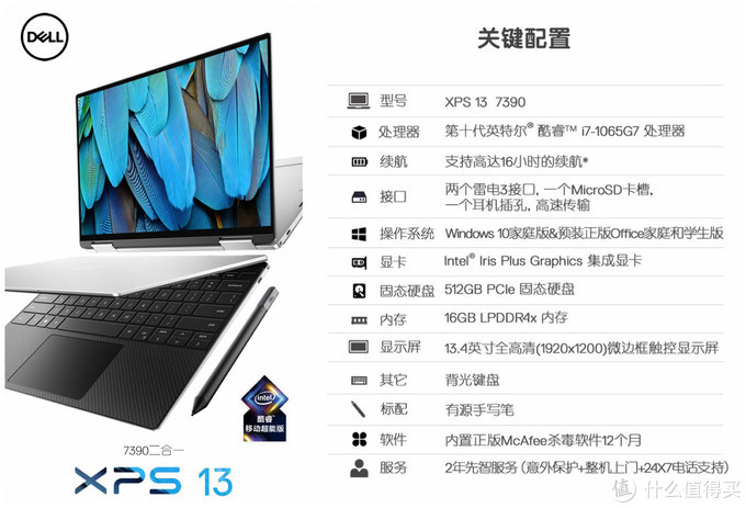 XPS 13-7390二合一评测:旗舰4K触控屏,翻转办公更强劲