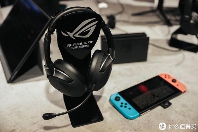 Switch可用、AI智能降噪:ASUS 华硕 发布 ROG Strix Go 2.4 无线游戏耳机