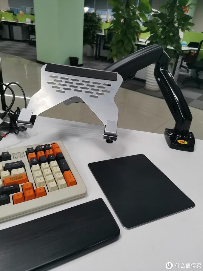 最省钱的万向笔记本支架:NB显示器支架+乐歌笔记本托盘方案分享