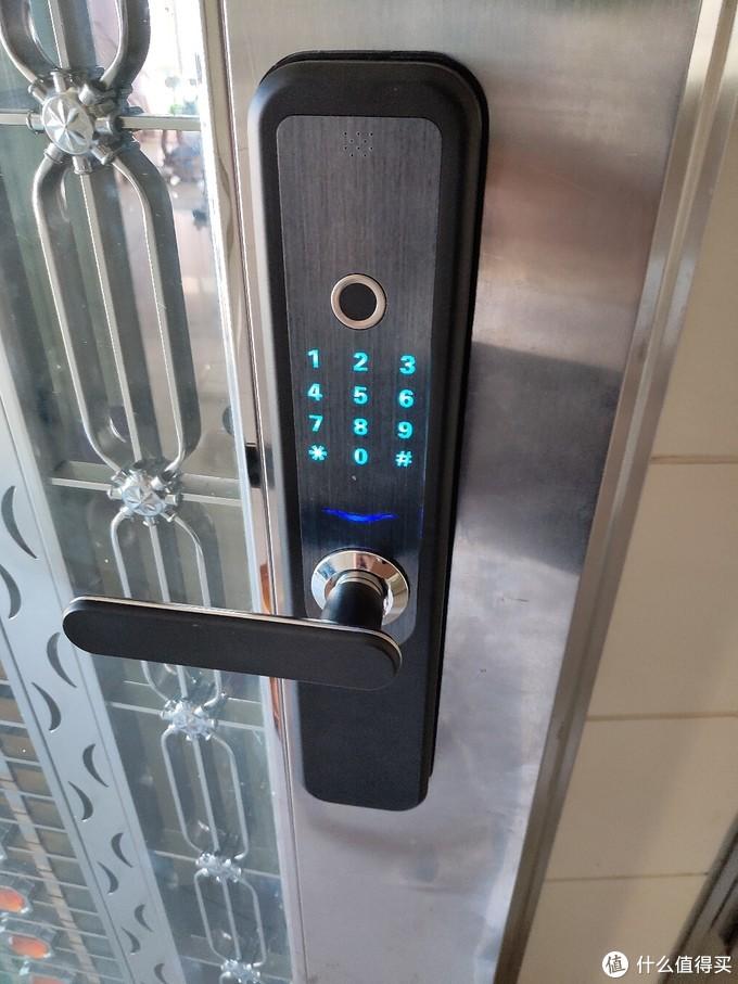百元级智能指纹锁开箱与安装