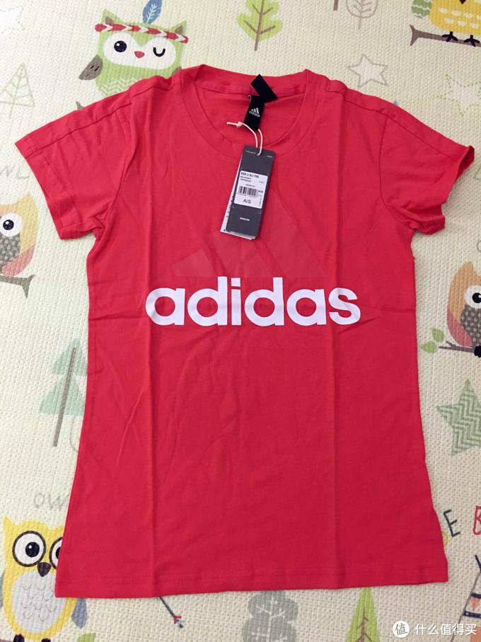 冬天撸夏装 阿迪达斯短袖T恤两件晒单
