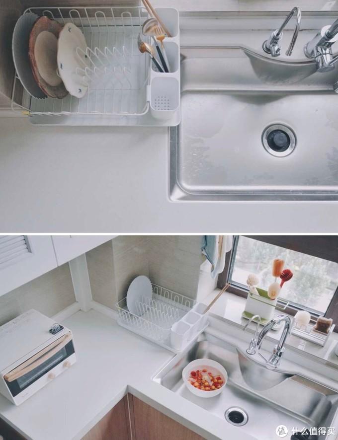 同样是小厨房,看看人家水槽边这么布置,台面清清爽爽!