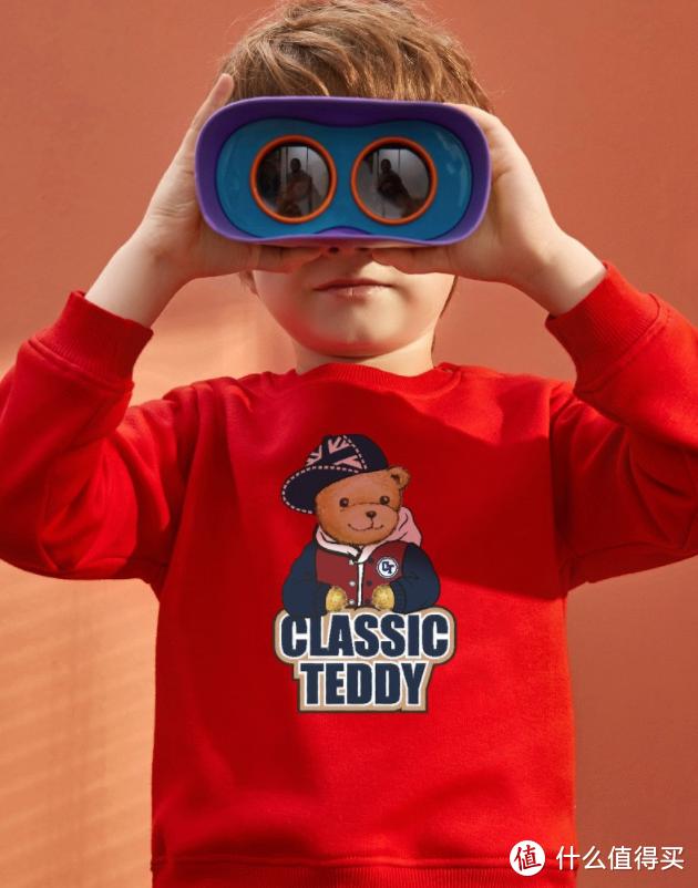 精典泰迪Classic Teddy儿童加绒卫衣(大红款棒球帽子熊)