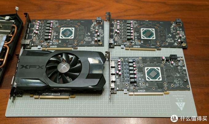 这三张显卡拆完了,由于都是AMD的公版渣渣,所以严格意义上说也没啥太大不同