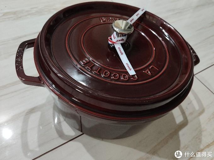 699元staub石榴红珐琅圆形炖锅28cm晒单