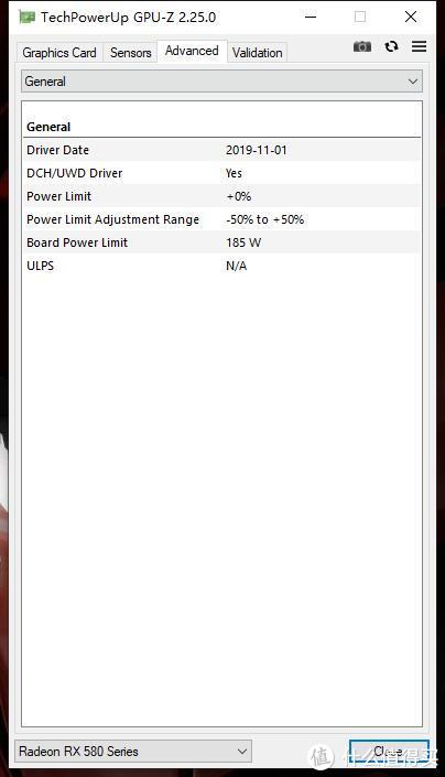 基准功率达到了185W,这个数字意味着没有额定550W的电源,带这块显卡很容易掉频