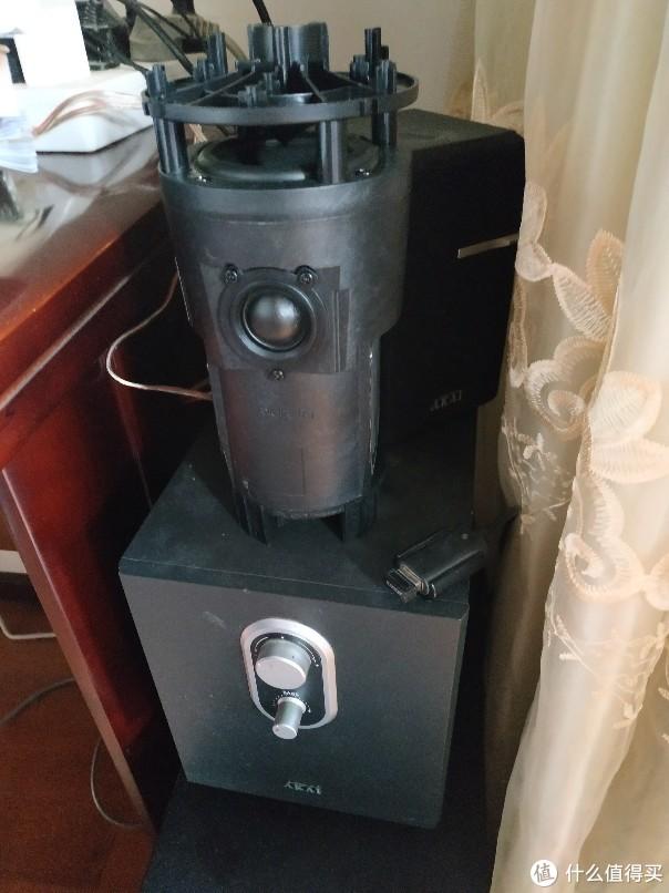 哈曼卡顿 燕飞利仕 菲讯 R1音箱改造成2.1音箱