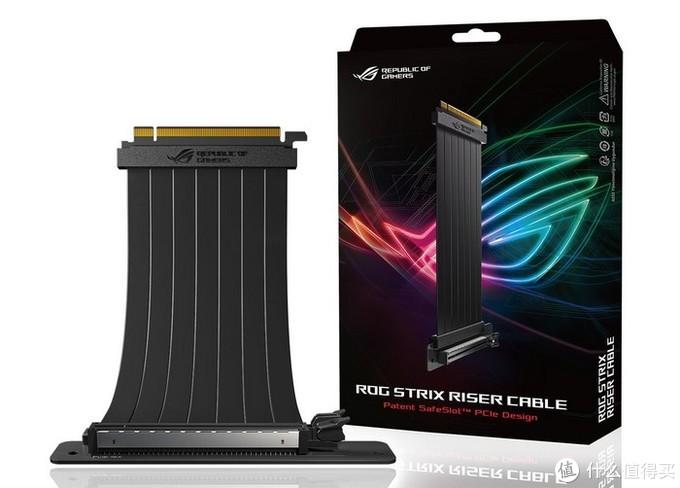 ROG Strix首款无光产品:华硕 发布 ROG Strix Riser Cable PCI-E转接排线