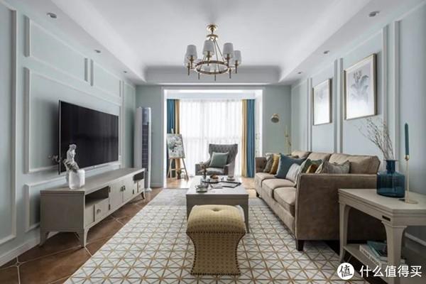 这款120㎡平现代美式风新房装修,是你想要的轻奢摩登范儿吗?
