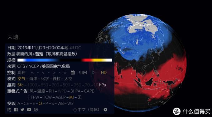 南半球和北半球的温度对比
