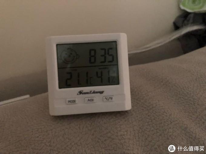 早上起床,湿度倒是维持住了,但还不让我太满意。
